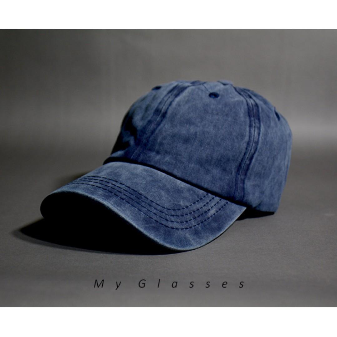 復古棒球帽-老帽-韓版-水洗刷色-港星-Myglasses個人眼鏡