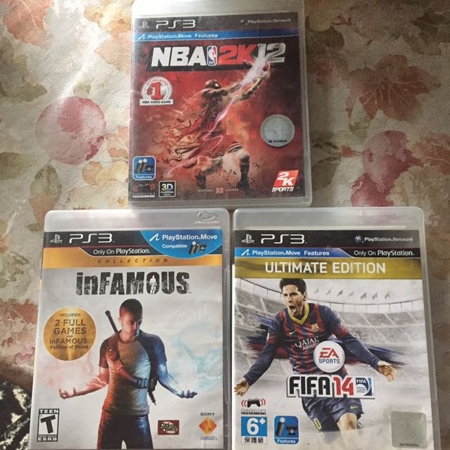 NBA 2k13, FIFA '14 and infamous Collection Pack