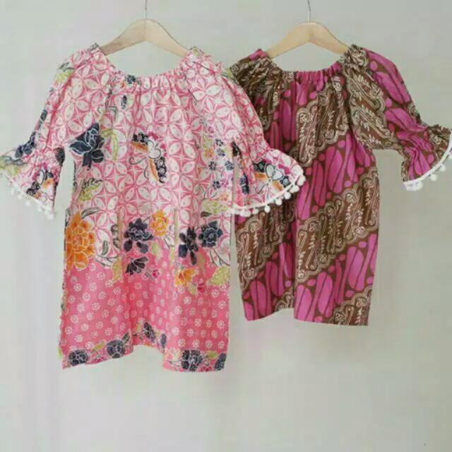 NEW Batik Anak Merk KOMO (Pink Kawung KIRI Size S)