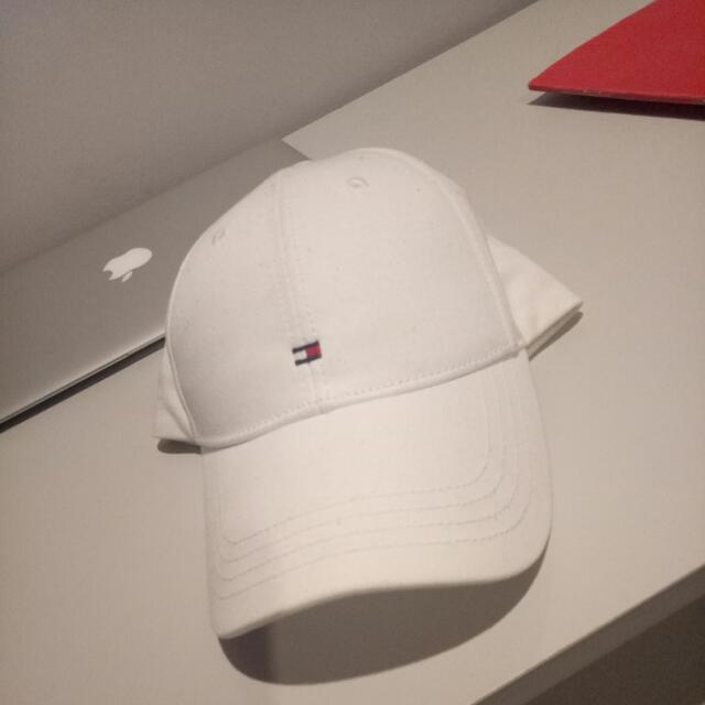 New Tommy Hilfiger White Baseball Cap