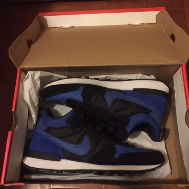 Nike Internatist 黑藍 交流可