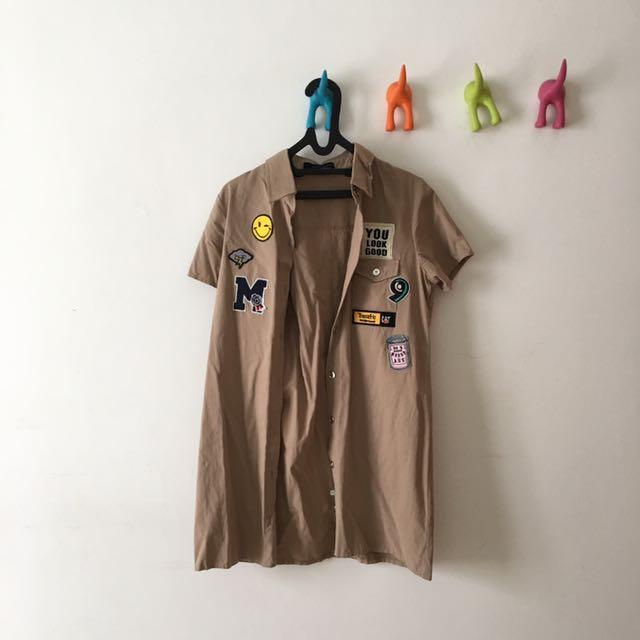 NYLA BASIC patched shirt