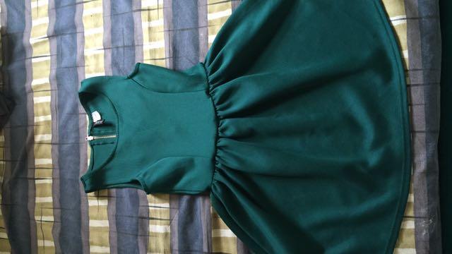 16da230b2fb1 Original DIVIDED by H&M Dark Green dress, Women's Fashion, Clothes ...
