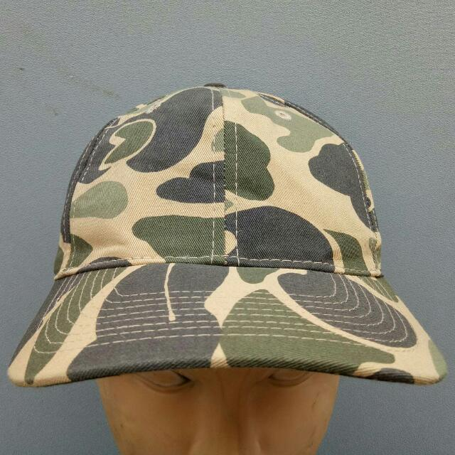 Original Otto Cap Hat Topi Camo Camouflage Duck Hunting From Japan Vintage 4d09ada38c