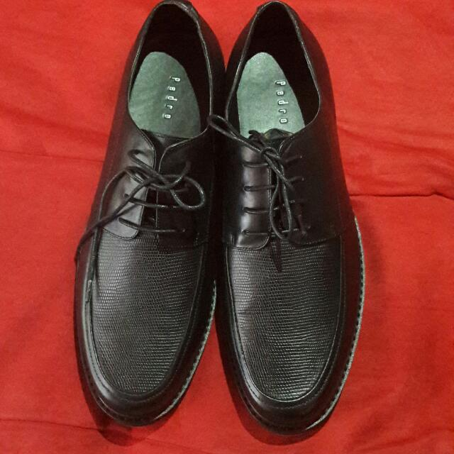 Pedro Laced Leather Shoes (Black)