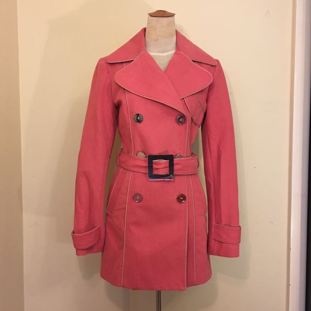 Pierucci Pink Trench coat Size 8 Au