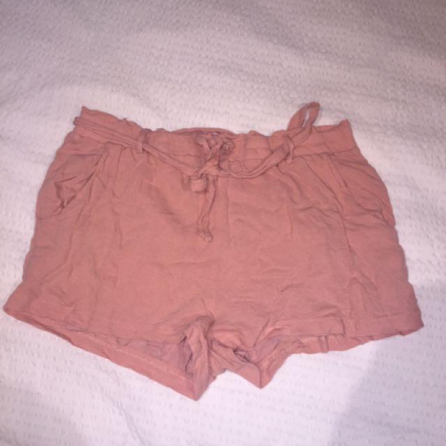 Pink flowy shorts