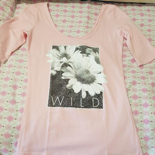 Pink Off Shoulder Top Size M