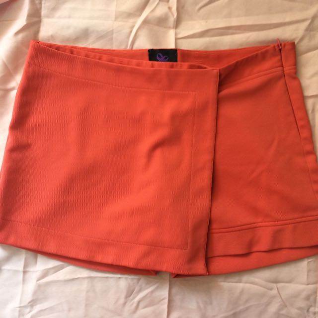 Plain and Prints Orange Skorts