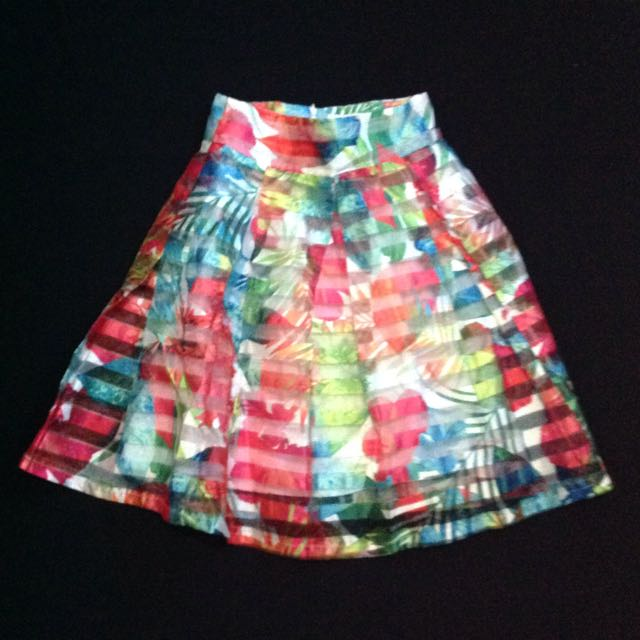 Printed Organza Skirt LUNA HABIT