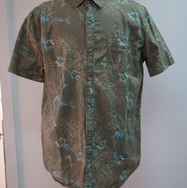 Reclaimed Vintage Tropical Short Sleeve Shirt