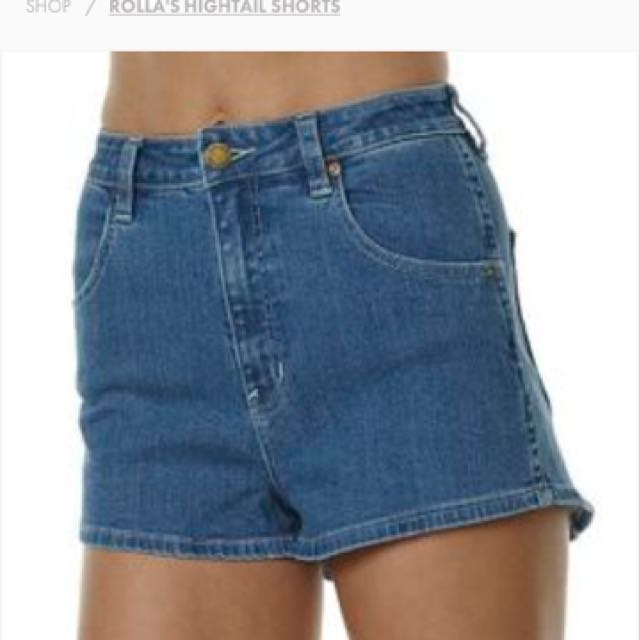 Rollas High Wasted Shorts