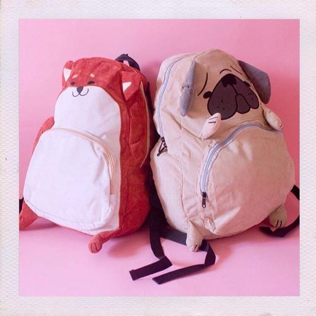 Shibe & Puggo Backpack / Ransel / Tas Punggung