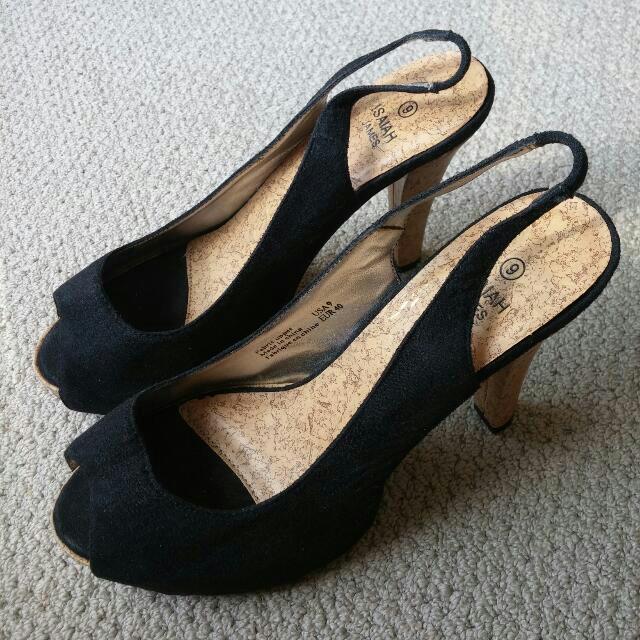 Size 9 Peep Toe Heels
