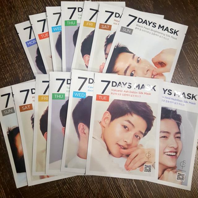 7 x Song Joong Ki : 7 Days Masks