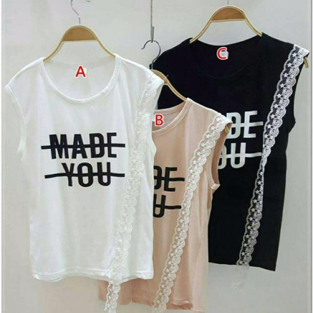 韓國蕾絲優雅T恤