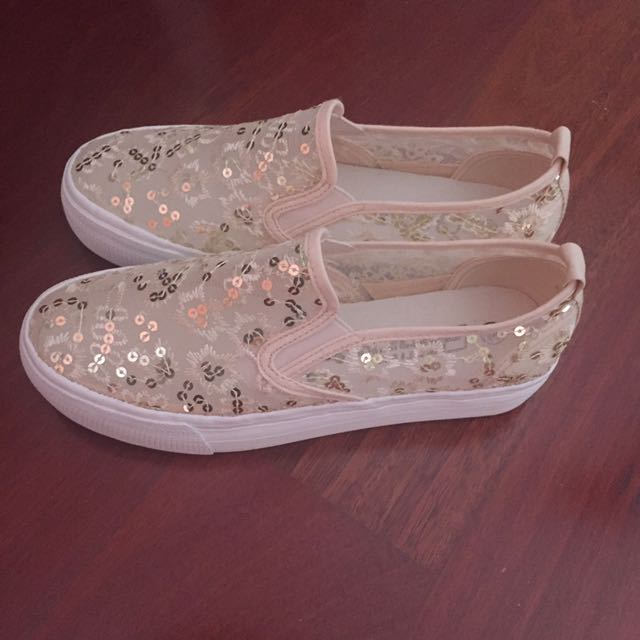 Transparent Casual Shoes Flats 39 8 Brand New