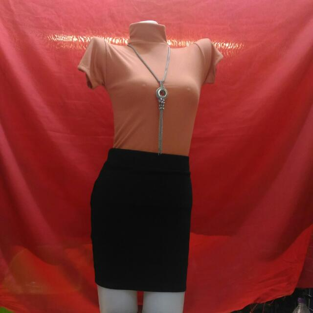 Turtle Neck Top & Pencil Skirt