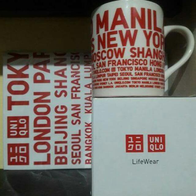 Uniqlo Mug And Notebook