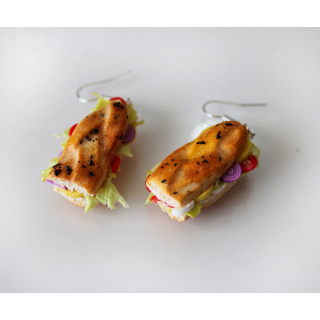 Vegetable Sandwich Earrings (183)