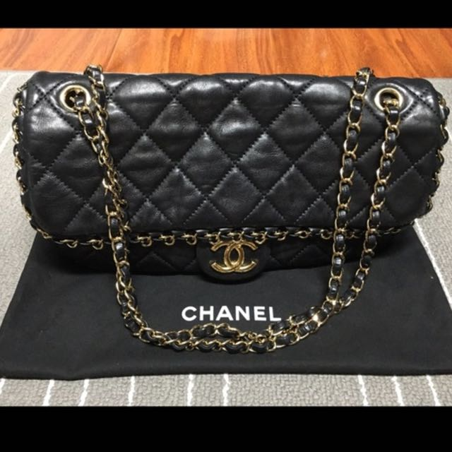 Verified Authentic Rare Chanel Black Quilted Leather Chain Me Mini Flap Bag Original Murah Beg Luxury Bags Wallets On