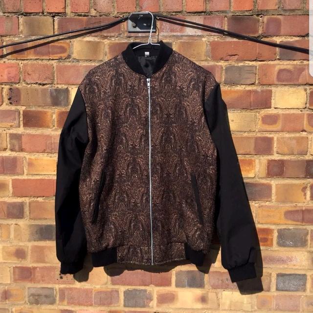 Vintage Paisley Bomber Jacket