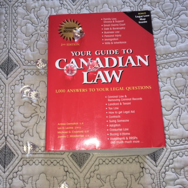 """Your Guide To Canadian Law"" Book"