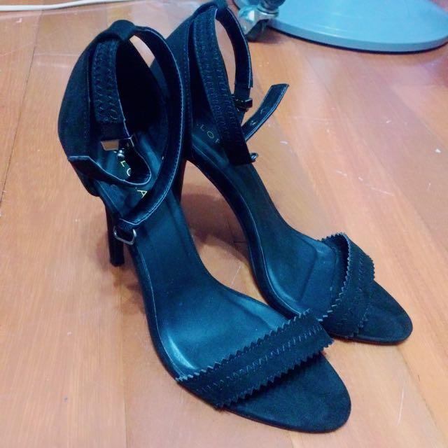 ZALORA一字繫帶唯美細高跟鞋