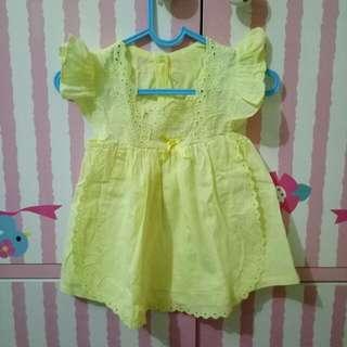 Baby Dress Yellow