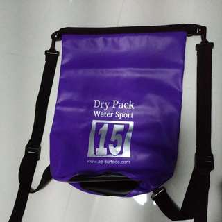 Water Bag/ Dry Pack 15L Purple In Colour