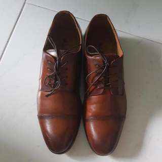 Aldo Leather Lace Up Brown Shoes