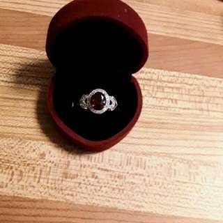 14k White Gold Ruby 2.29ct Ring