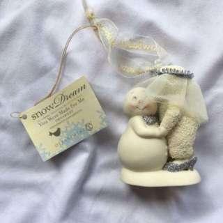 BNIB Bride & Groom Snowbabies Figurine