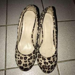 FLD heels leopard