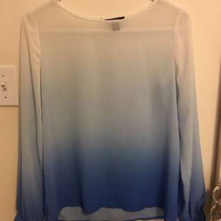 Forever21 Blue Ombré Top