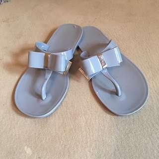 Michael Kors Flip Flops Blue Grey