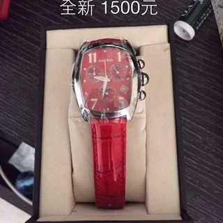 專櫃 GOTO 紅色女錶 手錶
