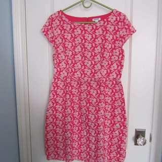 Coral Cotton Dress