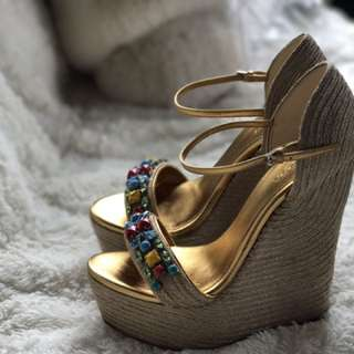 Gucci Wedge Sandals Size 7