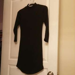 Bodycon Half Sleeve Black Dress
