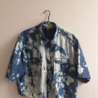 Cool Acid Wash 80s Oversized Top