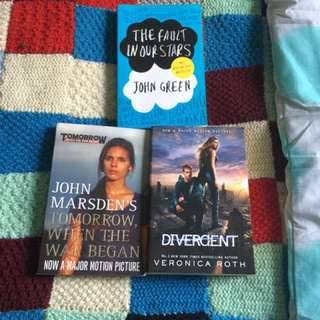 The Fault In Our Stars. Divergent. Tomorrow When The War Began