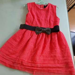 MAG Fuscia Netted Dress Size M