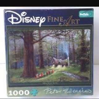 Disney Fine Art Puzzle Off To Home We Go Snow White Seven Dwarfs