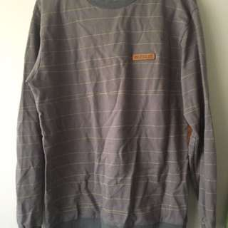 Grey Jumper Sweater Elbow Patch