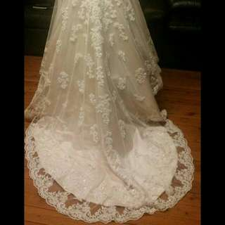 Wedding dress new With Tag .beautiful, Elegant And Detailed.paid $1900 please Make Me An Offer .no Time Waistes Please .