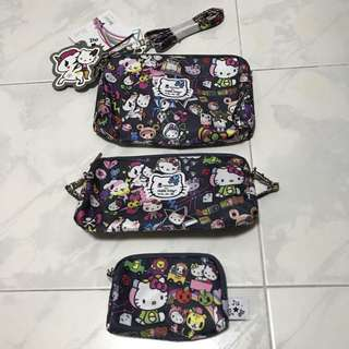 BNWT Tokidoki x Ju.Ju.Be x Hello Kitty Dream World Be Set (Complete)