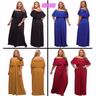 US Plus Size Off-shoulder Dress