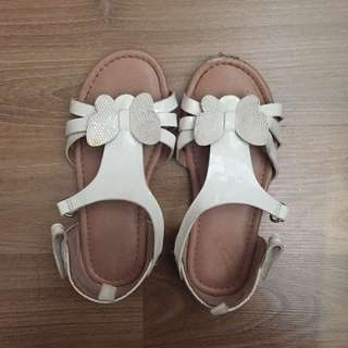 Sendal Anak H&M White Butterfly Kids Sandal Size 27 Insole16.5cm