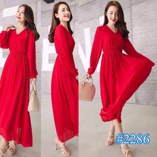 Korean Long Dress